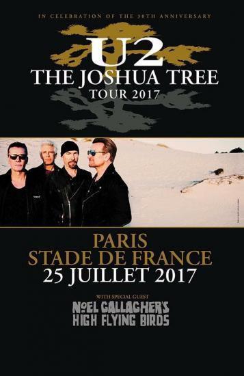 U2 Affiche Concert Paris Stade De France 25 07 2017