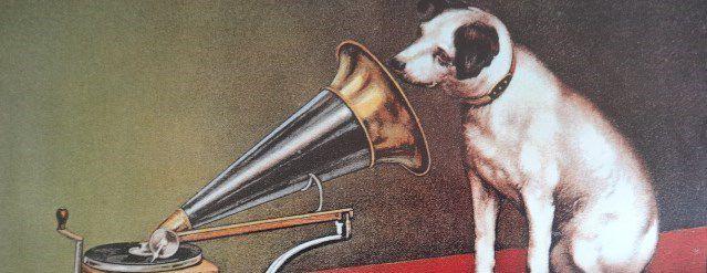 Nipper, le fox-terrier, La Voix de son Maître, Publicité RCA, Cl1/2. Elisabeth Poulain