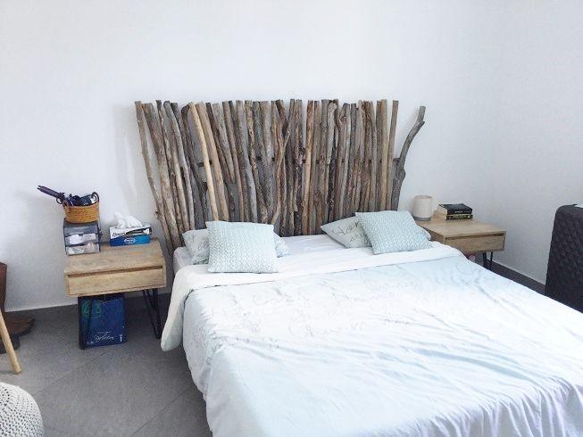 tete de lit en bois flotte production