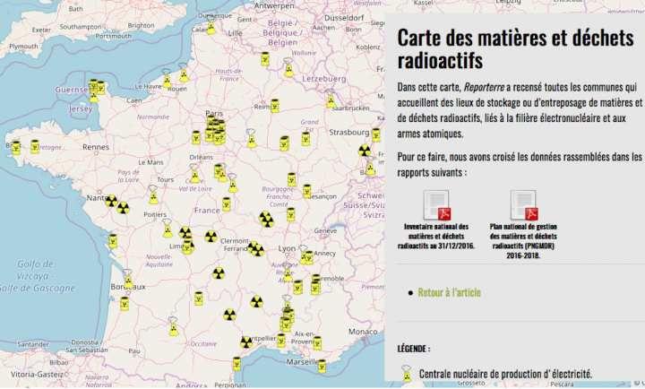 """Résultat de recherche d'images pour """"Les déchets radioactifs s'entassent partout en France"""""""