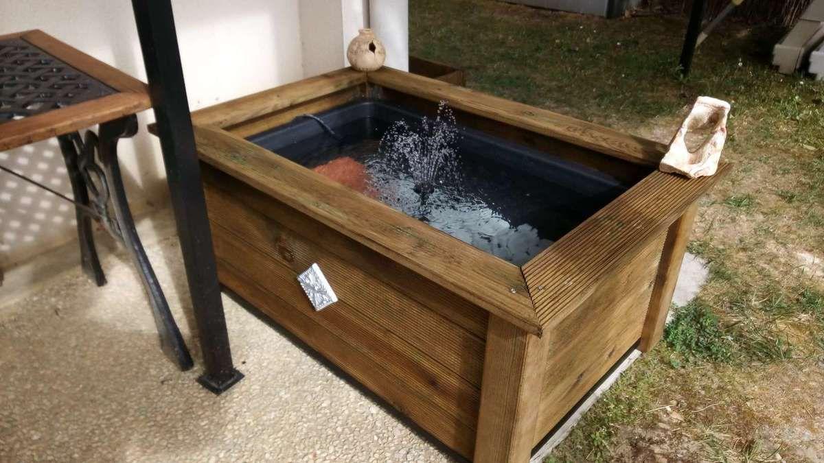 fabrication d un bassin de jardin le