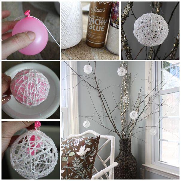 Des Boules De Noel Diy Decorations De Fete