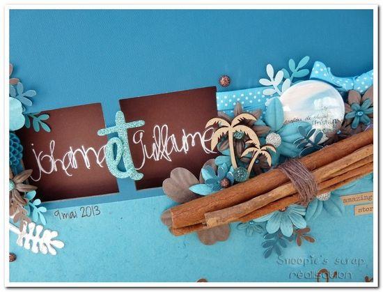 Livre d'or Johanna & Guillaume - turquoise & chocolat - exotique