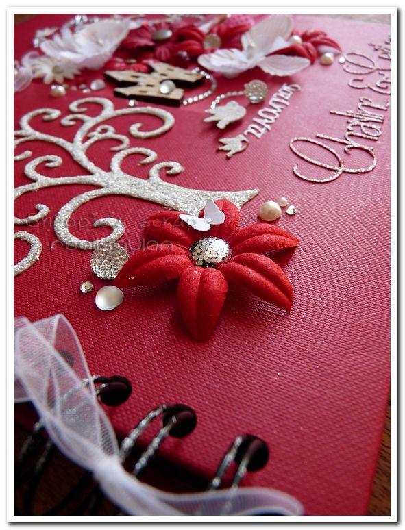 Livre d'or Charline & Gaëtan - Rouge & blanc