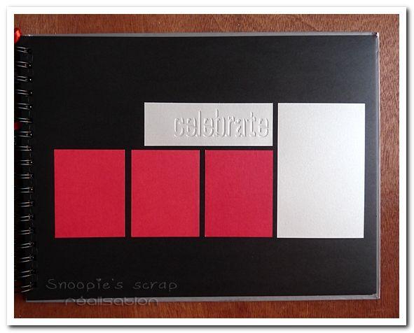 Livre d'or Justine & Cédric - mots d'amour - gris & rouge