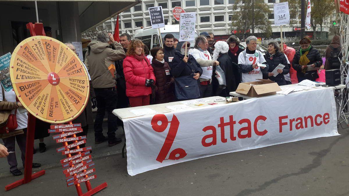 ATTAC et la BNP à Paris