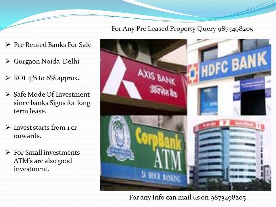 pre leased properties for sale in gurgaon, pre-leased bank for sale in gurgaon