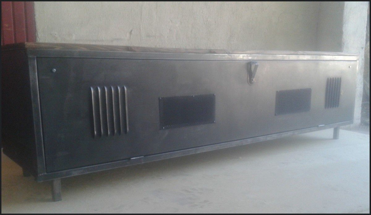 meuble tv vintage industriel le blog