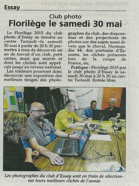 l'Orne Hebdo - Florilège du Photo Club du Pays d'Essay samedi 30 mai à 20h30