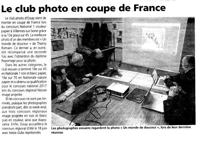 le Photo Club du Pays d'Essay dans L'Orne Hebdo