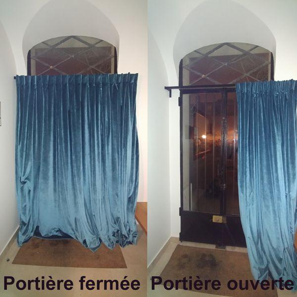 une portiere pour isoler une porte d