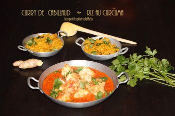 Lieu Jaune au curry, riz épicé