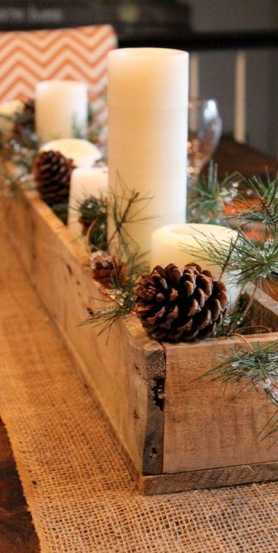 Centre de table rustique Noël