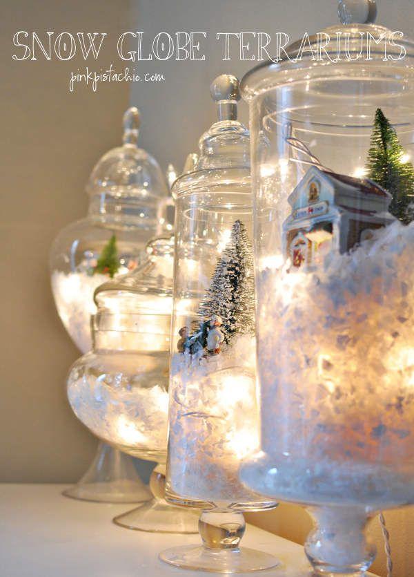 un terrarium pour votre table de noel
