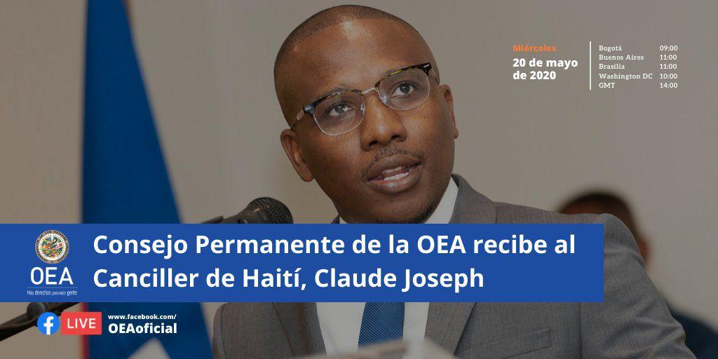 Haïti - Coronavirus : le ministre des Affaires étrangères présentera un rapport de situation lors d'une réunion spéciale avec le Conseil permanent de l'OEA