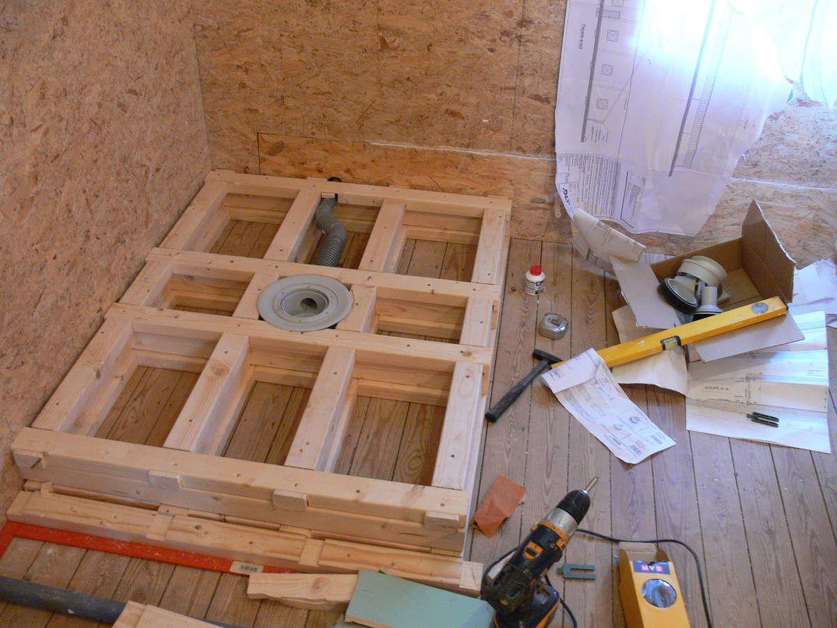 Salle De Bain Cration De La Douche Renovation Maison