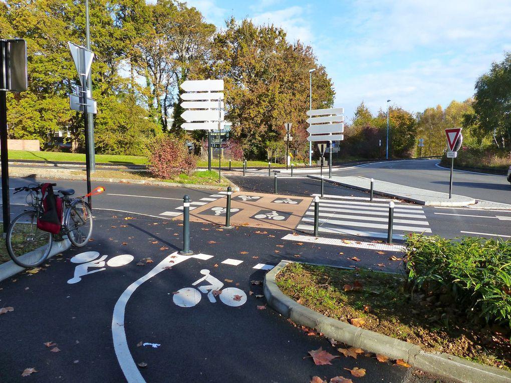 Nantes Métropole a aménagé un grand giratoire où les cyclistes sont prioritaires. Un exemple à suivre.