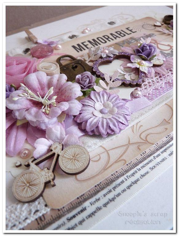 Livre d'or Mélanie & Anthony - vintage & romantique - rose, parme & ivoire