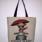 tuto tote bag dog - Viny DIY, le blog de tutoriels couture et DIY.