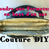 Coudre une Fermeture Intérieure en Haut d'un Sac - Tuto Couture - Viny DIY, le blog de tutoriels couture et DIY.