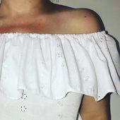 Coudre un Top Bardot - T-shirt à Volant - Tuto Couture DIY - Viny DIY, le blog de tutoriels couture et DIY.