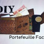 Coudre un Portefeuille facile - Tuto couture DIY - Viny DIY, le blog de tutoriels couture et DIY.