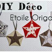 Tuto Etoile Origami - Couture et DIY - Viny DIY, le blog de tutoriels couture et DIY.