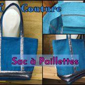 Sac Cabas à Paillettes - Tuto Couture DIY - Viny DIY, le blog de tutoriels couture et DIY.