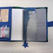 Protège cahier ou Bullet Journal - Tutoriel Couture DIY - Viny DIY, le blog de tutoriels couture et DIY.