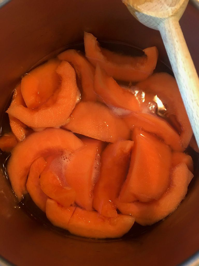 Confit de melon ( Pour calissons)