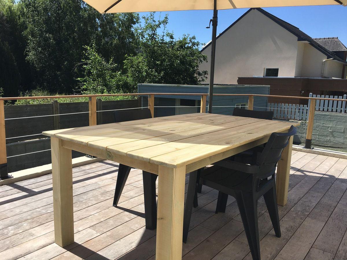construire une table pour votre jardin
