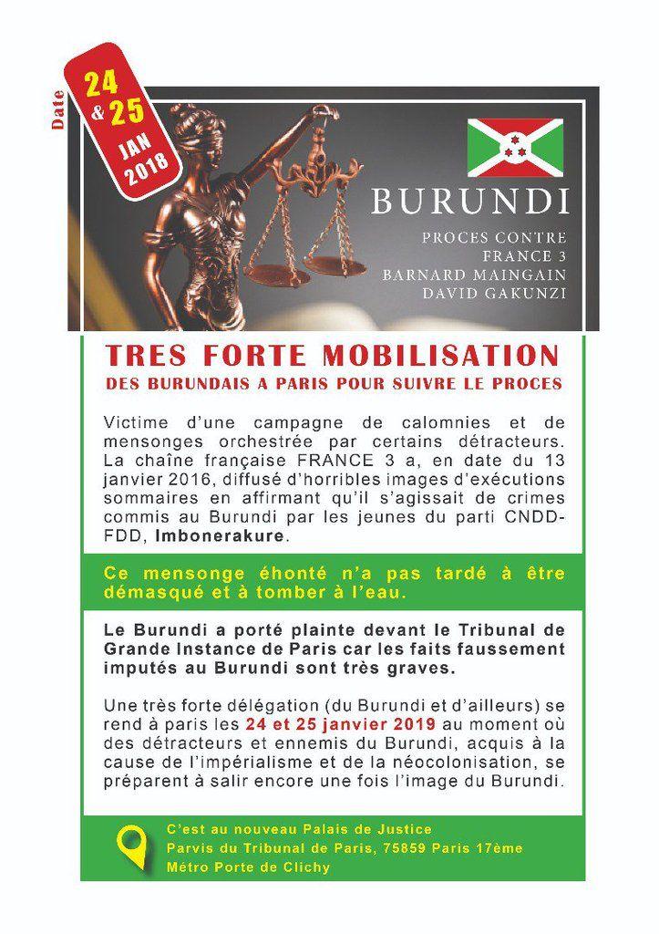 Appel à une forte mobilisation à Paris pour suivre le procès au palais de justice le 24 et 25 janvier 2019