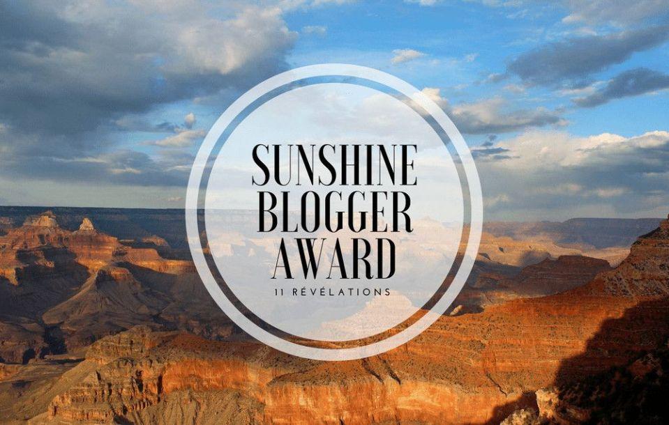 J'ai été nominée par le Sunshine Blogger Awards!!