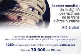 30 juillet, 2 journées : Journée mondiale de la dignité des victimes de la traite d'êtres humains et Journée internationale de l'amitié
