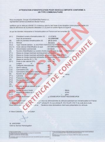 obtenir un certificat de conformité