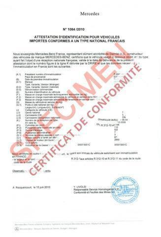 A quoi sert le Certificat de conformité COC