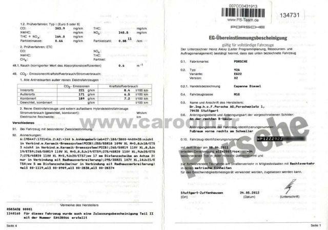 Certificat de Conformité // Certificat de Conformité européen // COC