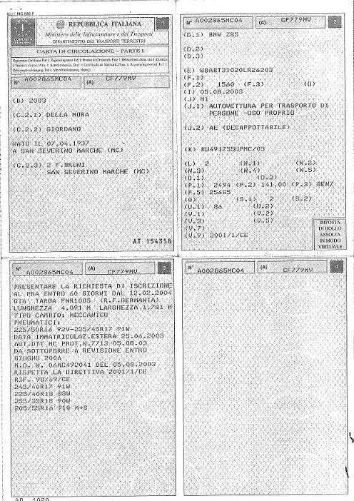 Comment immatriculer une voiture Italienne en Belgique?