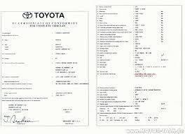 Comment obtenir uncertificat de conformité Toyota Gratuit?