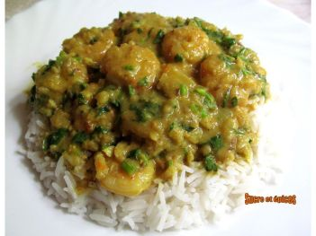 Curry de crevettes à ma façon