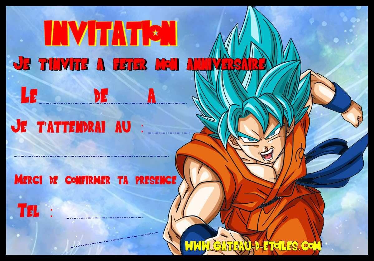 invitation gratuite dragon ball z