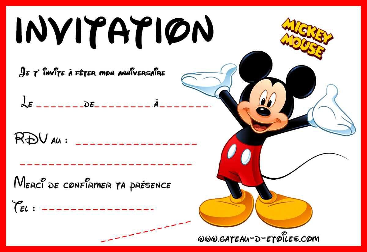 invitations gratuites mickey et ses