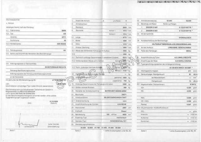Qu'est-ce que le Certificat de Conformité Bmw ?