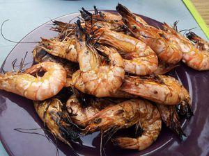 Crevettes grillées au barbecue