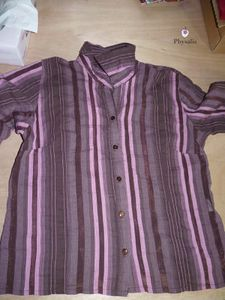 La chemise qui devint snood - Transformation de vêtements
