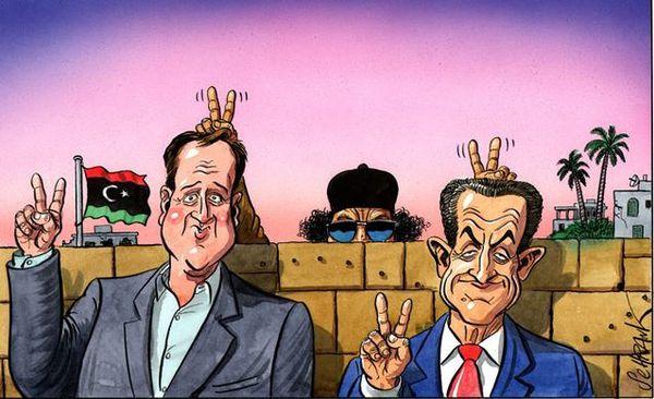 """Après la visite """"triomphale de Sarkozy et de Cameron en Libye (Schrank -The Independent)"""