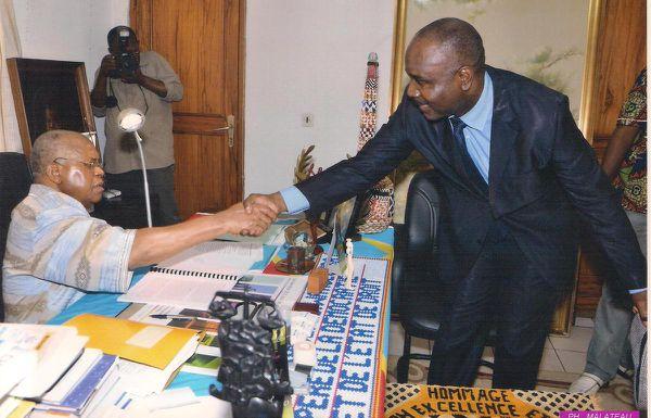 Diomi Ndongala (à dr.), un éternel confident d'Etienne Tshisekedi