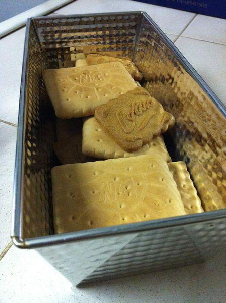 Gâteau aux biscuits pour finir les fonds de paquets