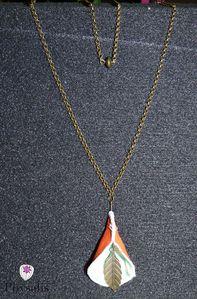 collier clochette orange
