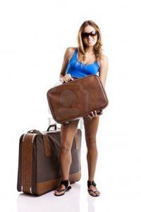 femme valises